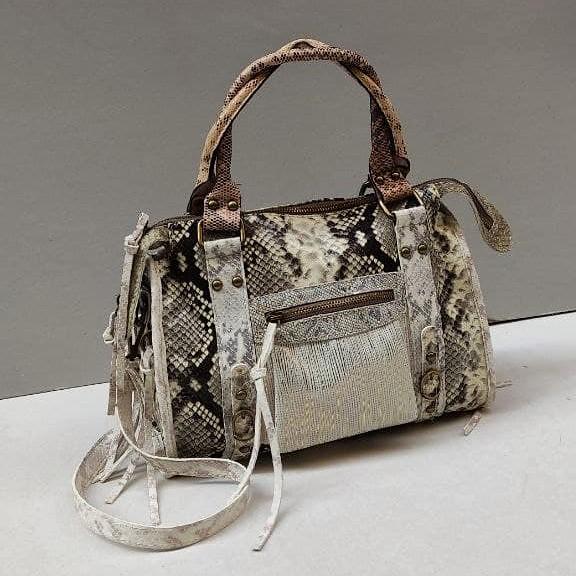 woman bag in printed calf handmade in italy - Florence